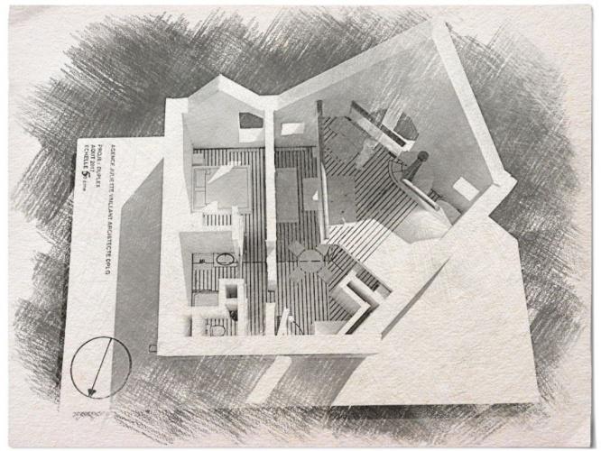 Modernisation d'un duplex urbain : maquette 1