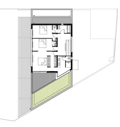 Maison B : Plan du 1er étage