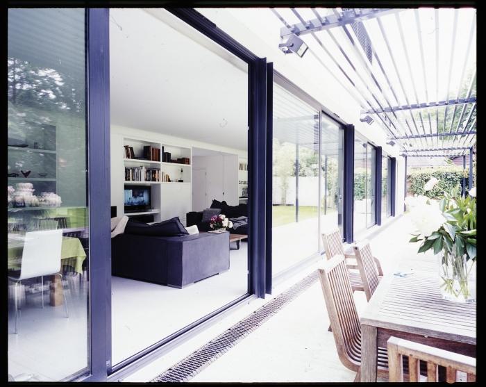 Maison B : Salon et terrasse