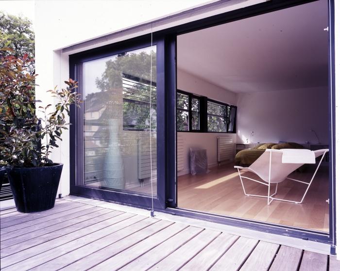 Maison B : terrasse au 1er étage