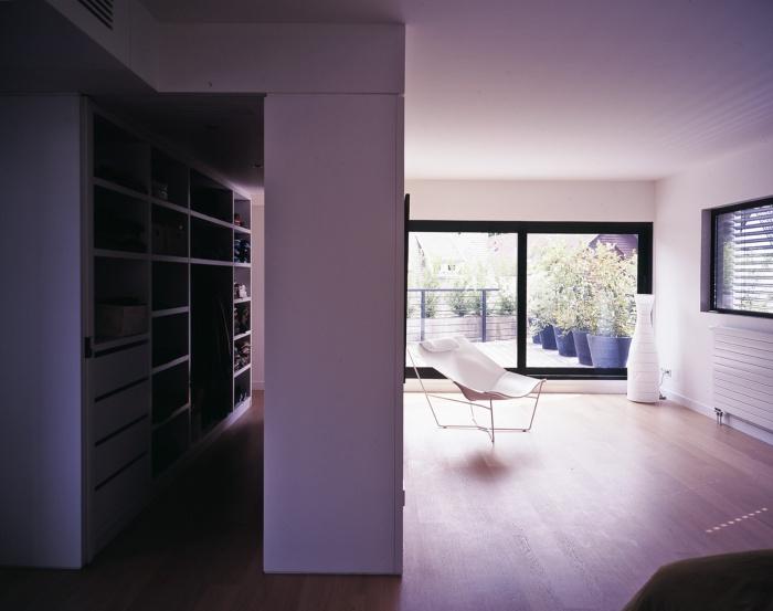 Maison B : chambre et dressing