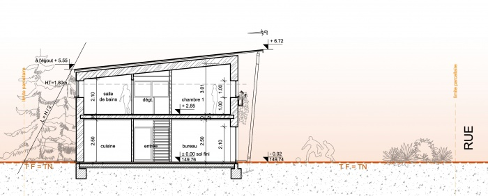 Habitat Individuel / Basse énergie / Ossature bois : coupe1a.jpg