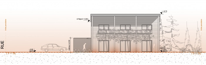 Habitat Individuel / Basse énergie / Ossature bois : facade2.jpg