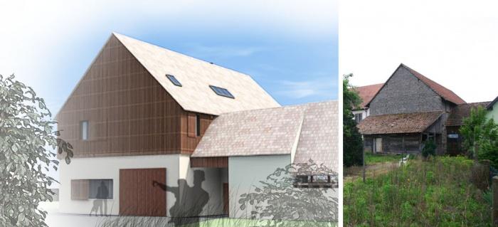 Réhabilitation d'une grange en Habitation individuelle : pers 1