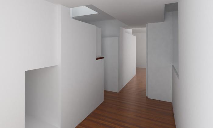 Appartement privé : vue de l'entrée
