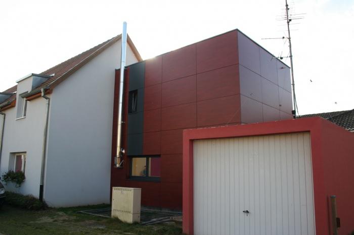 Extension d'une maison accolée : Façade Nord