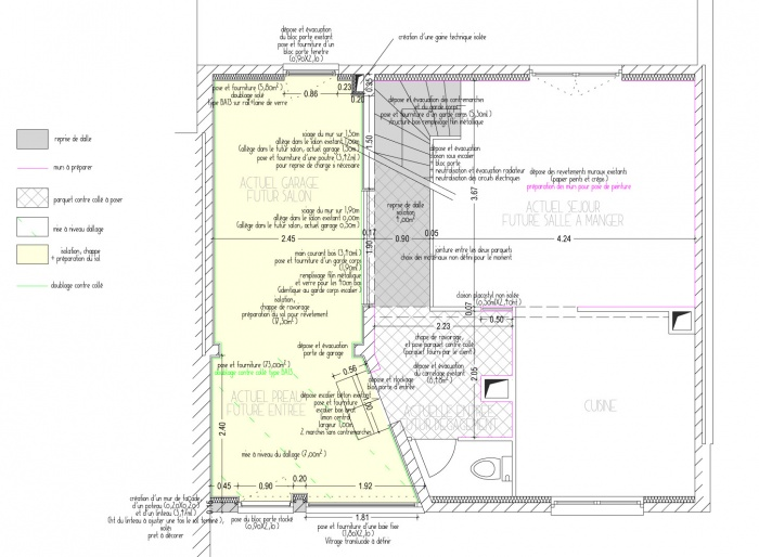Extension séjour : Plan intérieur
