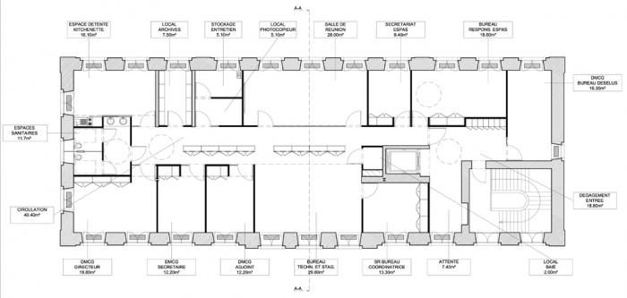 Aménagement de bureaux pour la Maison du Conseil Général du Bas-Rhin à SELESTAT (67) : SELES plan 1.jpg