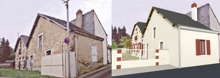Réunion de deux anciennes maisons à LA FLECHE (72) : HELENE Photo 1.jpg