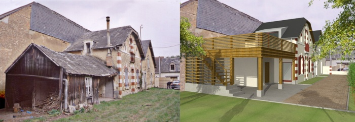 Réunion de deux anciennes maisons à LA FLECHE (72) : HELENEPhoto 2.jpg