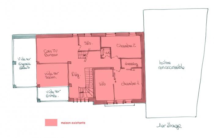 Réhabilitation maison individuelle : 1er etage.jpg