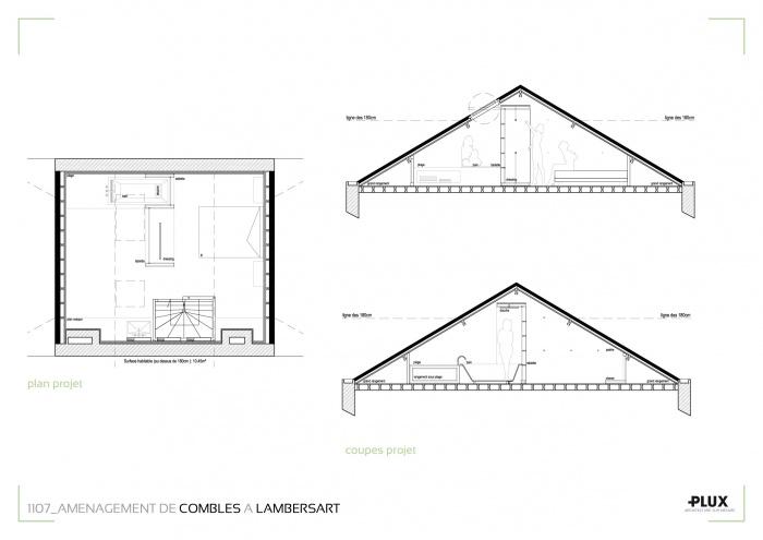 Combles aménagés à LAMBERSART (59130)