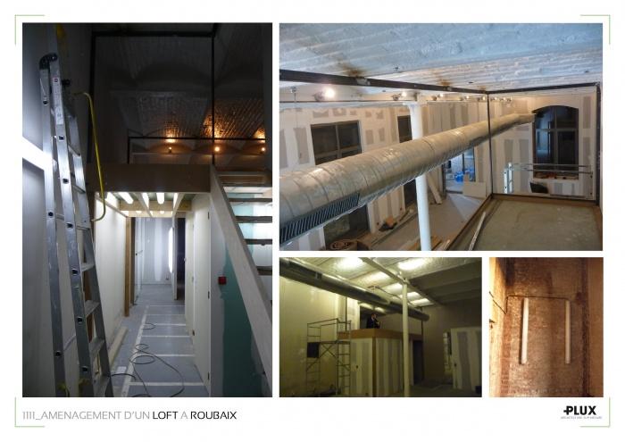 Aménagement d'un loft à ROUBAIX (59100) : architecte lille plux aménagement intérieur loft studio appartement loft maison design décoration