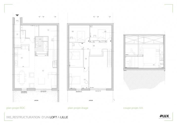 Aménagement d'un loft à LILLE (59000) : architecte lille plux aménagement intérieur loft studio appartement loft maison design décoration