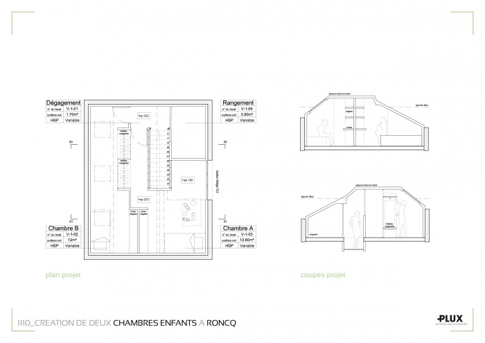 Aménagement de deux chambres pour enfants à RONCQ (59223) : architecte lille plux aménagement intérieur loft studio appartement loft maison design décoration
