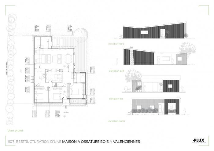 Restructuration d'une maison de campagne à ossature bois à Valenciennes (59300) : planches projets19.jparchitecte lille plux aménagement intérieur loft studio appartement loft maison design décorationg