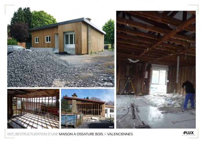 Restructuration d'une maison de campagne à ossature bois à Valenciennes (59300) : architecte lille plux aménagement intérieur loft studio appartement loft maison design décoration
