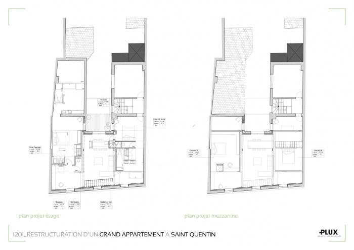 Rénovation et extension d'un grand appartement à SAINT QUENTIN (02100) : architecte lille plux aménagement intérieur loft studio appartement loft maison design décoration