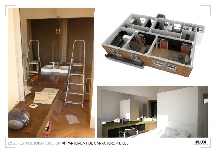 Aménagment d'un appartement de caractère à LILLE (59000) : architecte lille plux aménagement intérieur loft studio appartement loft maison design décoration