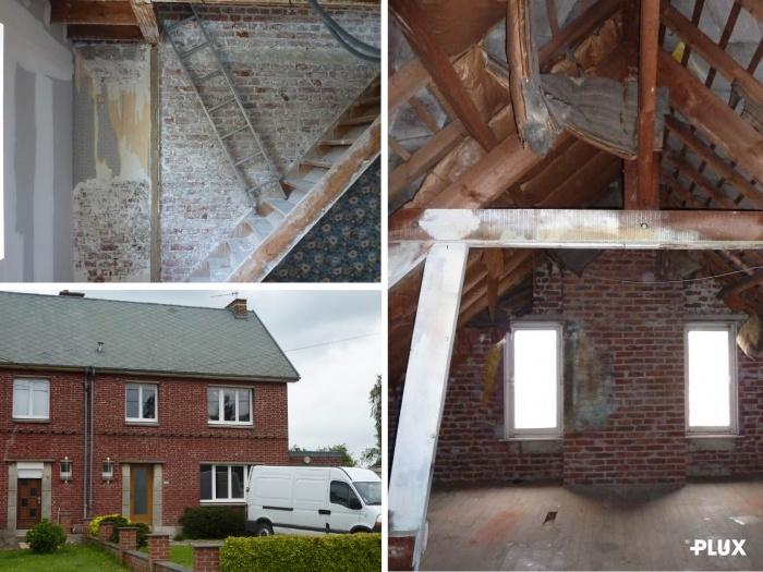 Réhabilitation d'une maison en trois appartements près de VALENCIENNES (59300) : Réhabilitation d'une maison en appartements Valenciennes architecte lille plux1
