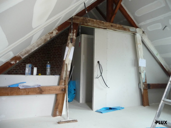 Réhabilitation d'une maison en trois appartements près de VALENCIENNES (59300) : Réhabilitation d'une maison en appartements Valenciennes architecte lille plux4