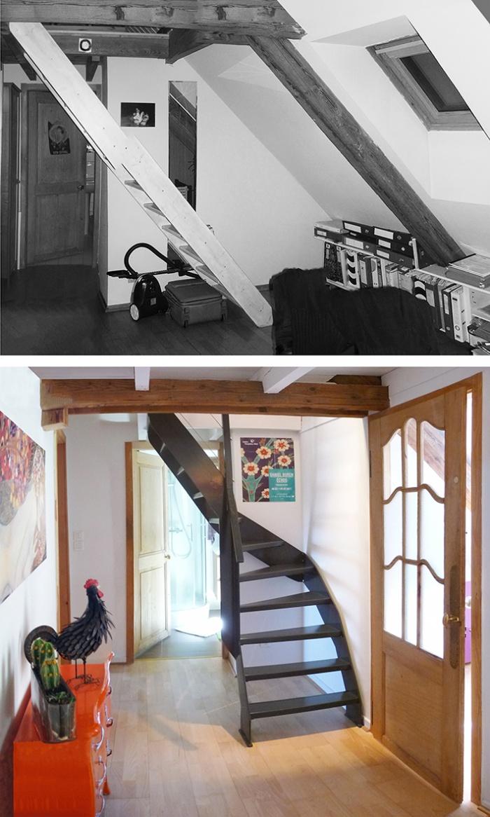 Terrasse sur les toits : REM_avant-apres_escaliers
