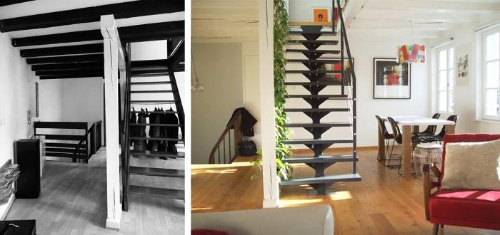 Duplex : FLO_avant-apres_escaliers