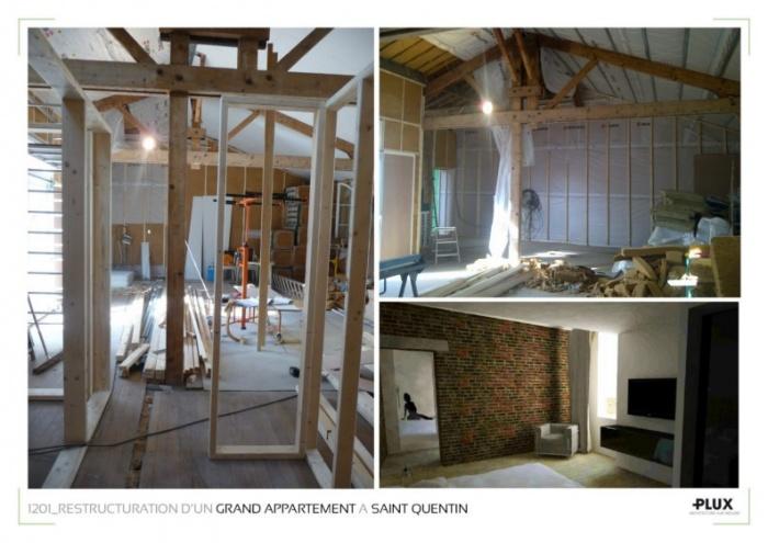 Rénovation et extension d'un grand appartement à SAINT QUENTIN (02100)