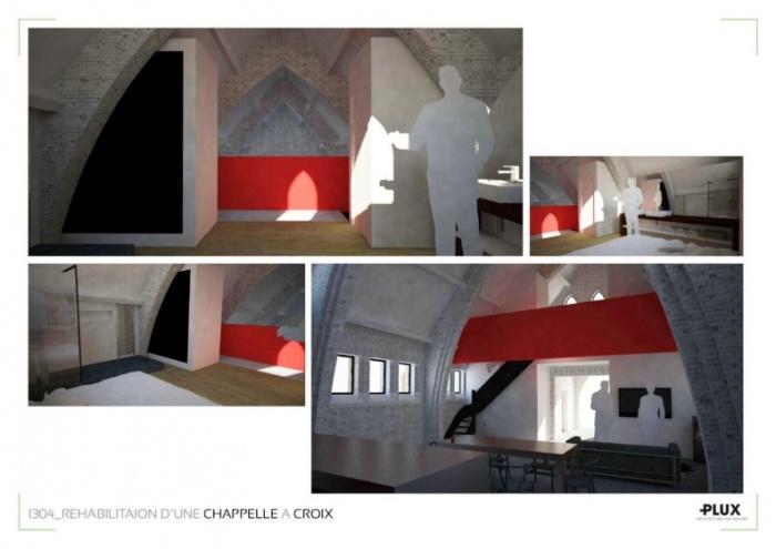 Réhabiliation d'une chapelle à CROIX_Architecte Lille PLUX : architecte architecte d'intérieur lille nord pas de calais rénovation restructuration aménagement décoration valenciennes