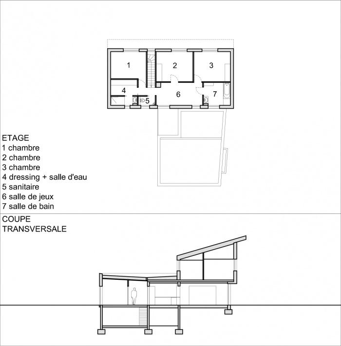 Construction d'une maison individuelle LABEL BBC à WIWERSHEIM (67) : PLAN ETAGE COUPE.jpg