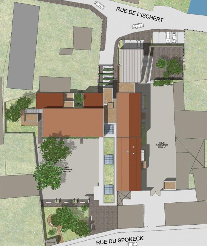 Extension et restructuration d'un groupe scolaire à ARTZENHEIM (68) : PLAN MASSE.jpg