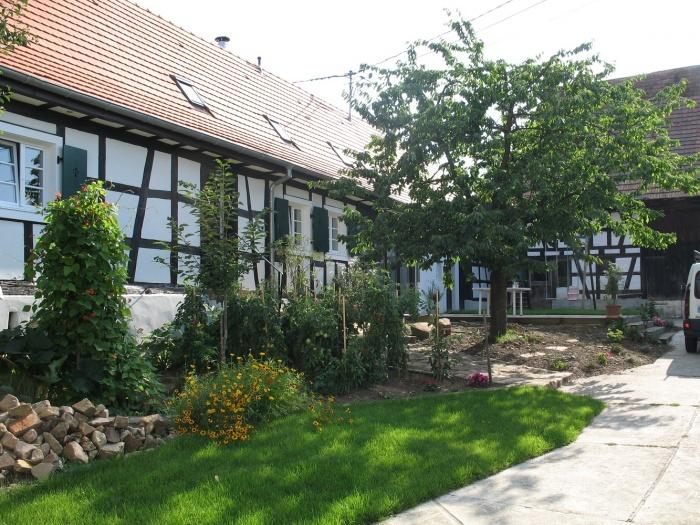 Réhabilitation de maisons Alsaciennes : Vue de la rue