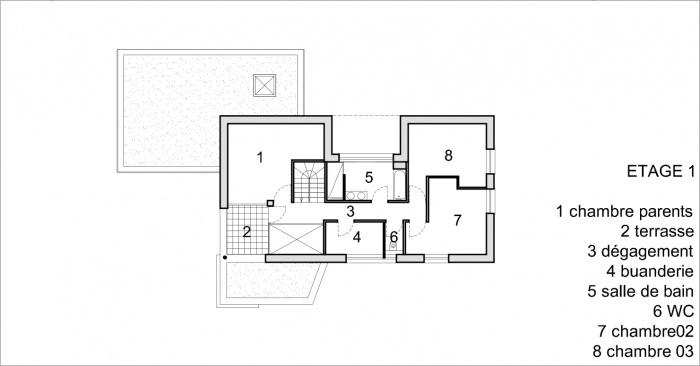 Construction d'une maison contemporaine à Sélestat (67) : PLAN ETAGE.jpg